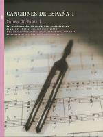 Songs of Spain - Volume 1 Sheet Music