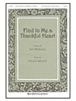 Find in Me a Thankful Heart Sheet Music