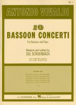 10 Bassoon Concerti For Bassoon And Piano Volume 1 Sheet Music