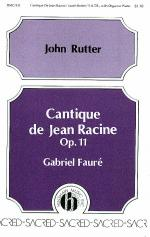 Cantique De Jean Racine Opus II Sheet Music