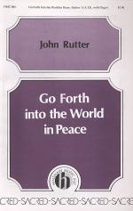 Go Forth Into the World in Peace Sheet Music