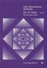 Der 42. Psalm (Psalm 42) (Psaume 42) Sheet Music