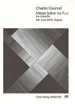 Messe breve no. 7 aux chapelles (Messe breve no 7 en ut majeur aux chapelles) Sheet Music