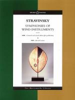Stravinsky - Symphonies of Wind Instruments Sheet Music