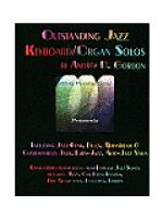 Outstanding Jazz Keyboard/Organ Solos Sheet Music
