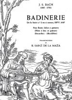 Bach: Badinerie De La Suite No. 12 In B Minor BWV 1067 Sheet Music