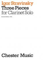 Three Pieces For Clarinet Solo Sheet Music
