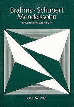 Chorbuch Brahms, Mendelssohn, Schubert Sheet Music