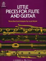 Little Pieces For Flute And Guitar Sheet Music