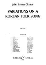 Variations on a Korean Folk Song Sheet Music