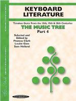 The Music Tree - Part 4 (Keyboard Literature) Sheet Music