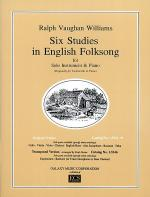 Six Studies in English Folksong - Cello and Piano Sheet Music