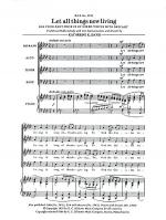 Let All Things Now Living Sheet Music