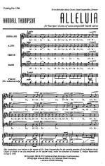 Alleluia Sheet Music