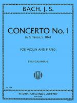 Concerto No. 1 in A minor, BWV 1041 Sheet Music