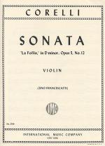 Sonata La Follia, Opus 5, No. 12 Sheet Music