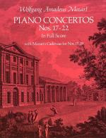 W.A. Mozart: Piano Concertos Nos.17-22 (Full Score) Sheet Music
