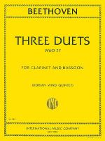 Three Duets for Clarinet & Bassoon (WoO.27) Sheet Music