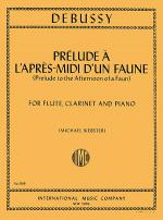 Prelude l'apres midi d'un faune (Prelude to 'Afternoon of a Faun') for Flute, Clarinet & Piano) Sheet Music