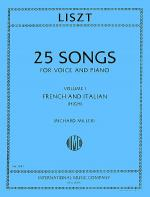 Songs for High Voice - Volume I (French and Italian) Sheet Music