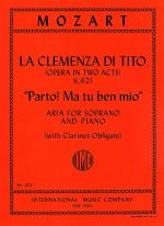 Parto! Ma tu ben mio, from 'La Clemenza di Tito' (for Soprano with B flat clarinet ad lib.) Sheet Music