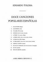 Doce Canciones Populares Espanolas Sheet Music