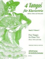 4 Tangos fur Klaviertrio - Band I Sheet Music