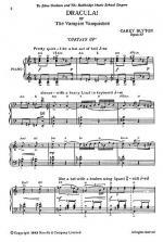 Dracula! Sheet Music