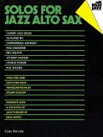 Solos for Jazz Alto Sax Sheet Music