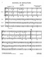 Playstrings Moderately Easy No. 9 Handel In Miniature Sheet Music