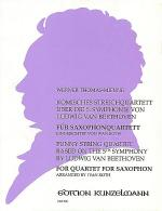 Comic String Quartet based on the 5th Symphony by Ludwig Van Beethoven - Arranged for Saxophone Quar Sheet Music