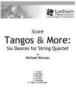 Tangos & More: Six Dances for String Quartet - Score Sheet Music
