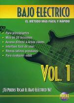 Bajo Electrico Vol. 1, Spanish Only DVD Sheet Music
