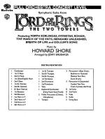 Symphonic Suite from Lord of the Rings: The Two Towers - Conductor Score Sheet Music