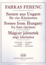 Scenes from Hungary for Four Clarinets Sheet Music