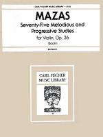 75 Melodious and Progressive Studies, Op. 36-Bk. 1 Sheet Music