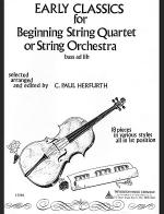 Early Classics for Beginning String Quartet or String Orchestra Sheet Music