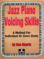 Jazz Piano Voicing Skills Sheet Music