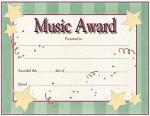 Award Certificates - Star Design Sheet Music
