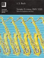 Sonata, Bwv 1020, G Minor (Har Sheet Music