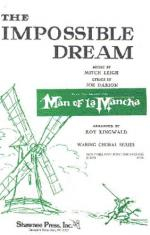 The Impossible Dream (Man From La Mancha) - SAB Sheet Music