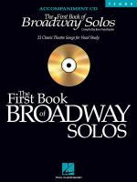 The First Book of Broadway Solos Sheet Music