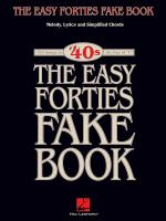 The Easy Forties Fake Book Sheet Music
