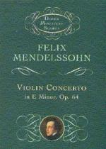 Violin Concerto In E Minor (Miniature Score) Sheet Music