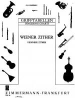Fingering Chart for the Viennese Zither Sheet Music