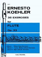 35 Exercises for Flute, Op. 33 - Book I Sheet Music