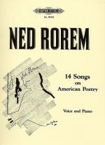 14 Songs On American Poetry Sheet Music
