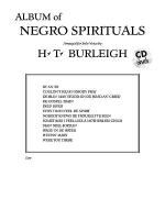Album of Negro Spirituals Sheet Music