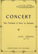 Launy Grondahl: Concert for Trombone and Piano Sheet Music