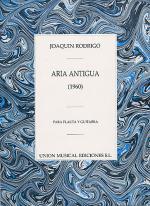 Joaquin Rodrigo: Aria Antigua Para Flauta Y Guitarra Sheet Music